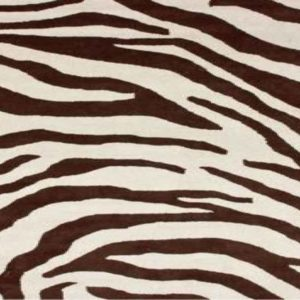 Rugs USA Safari Contemporary Zebra Print with Faux Silk Highlights - Round Zebra Rug