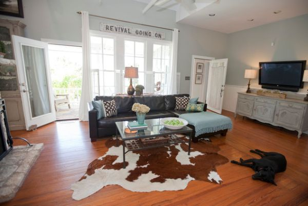 Ways of using cowhides in your interior décor